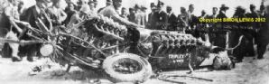 White Triplex Special. Wreck at Daytona 1928